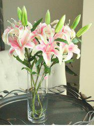 Artificial Blossoming Lily Branch