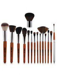 15 Pcs Nylon Makeup Brushes Set