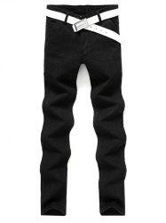 Slim Fit Zip Fly Casual Pants