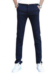 Slim Zip Fly Casual Pants