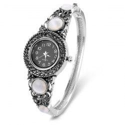 Fake Gemstone Quartz Bracelet Watch