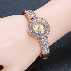 Rhinestoned Quartz Bracelet Watch
