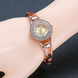 Rhinestone Hollow Out Bracelet Watch