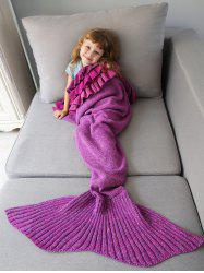 Home Decor Multilayered Ruffles Knit Mermaid Blanket Throw For Kids