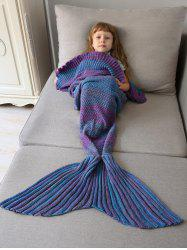 Home Decor Ombre Crochet Knit Mermaid Blanket Throw For Kids