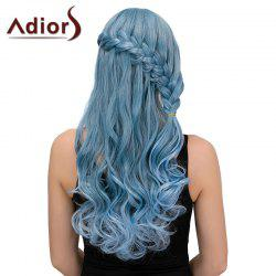 Adiors Long Side Bang Half Braid Wavy Synthetic Wig