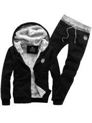 Zip Up Patch Hoodie Twinset -