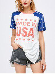 Graphic Star Side Slit Tunic T-Shirt