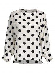 Polka Dot Long Sleeves Blouse -