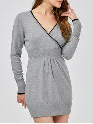 Surplice High Waist Jumper Dress