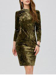 Velvet Ruched Slimming Bodycon Bandage Dress