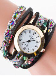 Rhinestone Wrap Bracelet Watch
