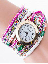 Rhinestone Wrap Bracelet Watch -
