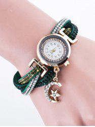 Rhinestone Studded Bracelet Watch -