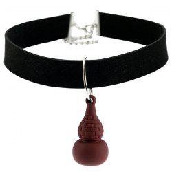 Artificial Leather Velvet Cucurbit Choker Necklace