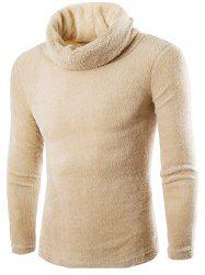 Fuzzy Turtleneck Fleece Sweater -
