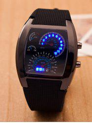 Silicone Strap Sport Watch - BLACK