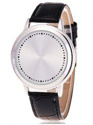 Faux Leather LED Watch