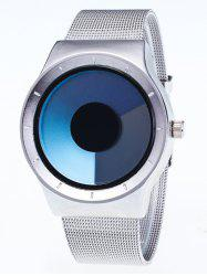 Metal Mesh Ombre Quartz Watch - BLUE