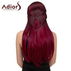 Adiors Long Colormix Natural Straight Side Bang Layered Braid Synthetic Wig