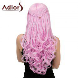 Adiors Long Side Parting Half Braid Wavy Synthetic Wig