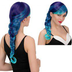 Adiors Long Side Bang Colormix Side Braid Synthetic Wig
