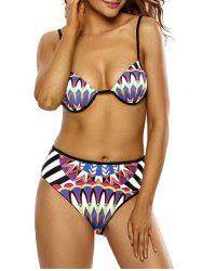 Totem Print Low Cut Bikini Set