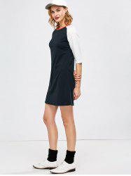 Raglan Sleeve Mini T-Shirt Dress