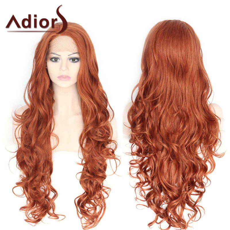 Cheap Adiors Long Side Parting Fluffy Layered Wavy Lace Front Synthetic Wig
