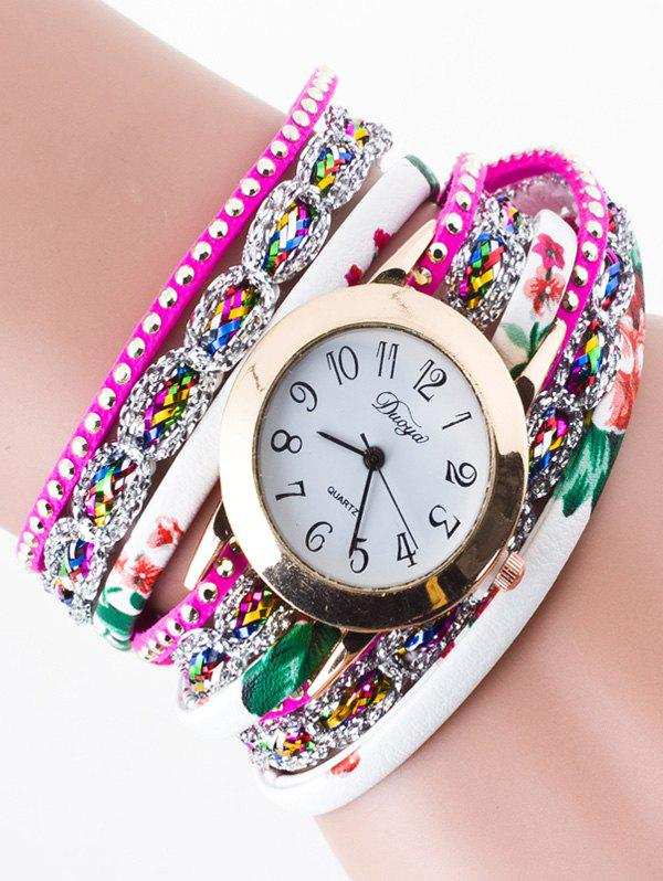 Trendy Rhinestone Wrap Bracelet Watch