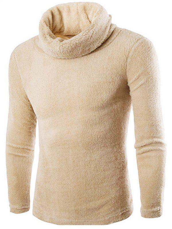Shops Fuzzy Turtleneck Fleece Sweater