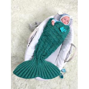Crochet Sleeping Bag Mermaid Blanket Set For Baby -
