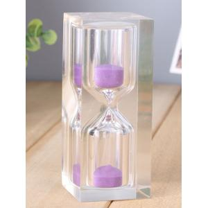 Home Table Decorative 15 Minutes Crystal Sand Clock