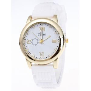 Silicone Roman Numerals Quartz Watch - White