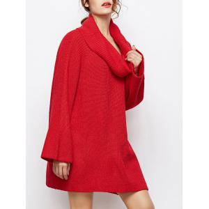 Oversized Chunky Cowl Neck Long Sweater