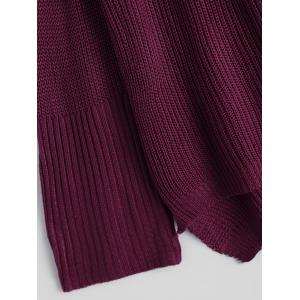 Lace-Up Sweater - BURGUNDY M