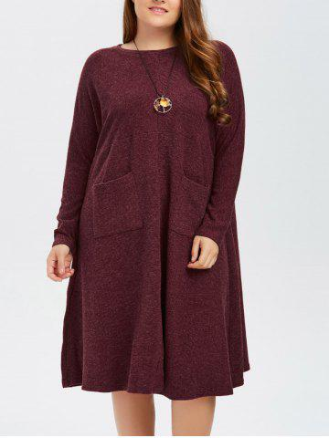 Latest Knitted Plus Size Front Slit Dress