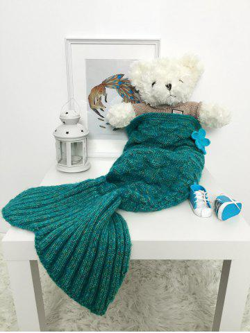 Chic Crochet Sleeping Bag Mermaid Blanket Set For Baby