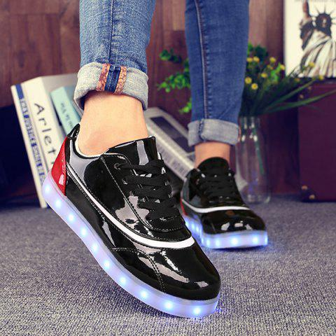 Unique Led Luminous Color Block Athletic Shoes