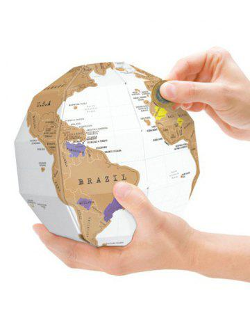Buy Home Decor DIY Scratch World Map Travel Gift WHITE