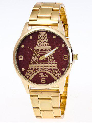 Fashion Eiffel Tower Analog Quartz Watch BROWN