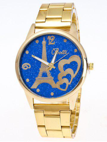 Trendy Eiffel Tower Heart Quartz Watch BLUE
