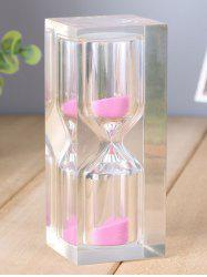 Home Table Decorative 15 Minutes Crystal Sand Clock -