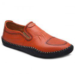 Elastic Faux Leather Casual Shoes