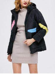Printed Hooded Quilted Jacket