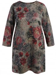 Shift Long Sleeve Floral Dress