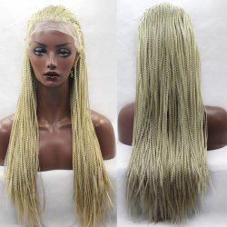Long Micro Africa Braided Lace Front Synthetic Wig