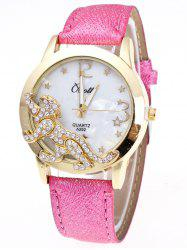 Faux Leather Leopard Quartz Watch