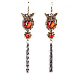 Artificial Ruby Butterfly Earrings