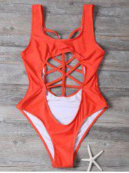 Cut Out Cropped One-Piece Swimwear